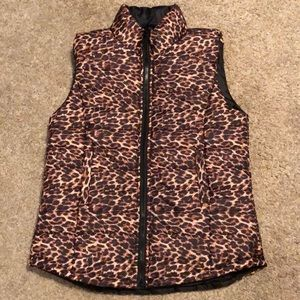 Puffy Leopard Vest